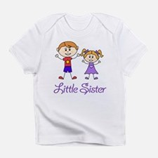 Little Sister with Big Brother Infant T-Shirt