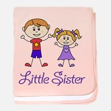 Little Sister with Big Brother baby blanket