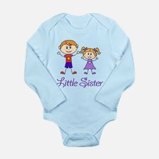 Little Sister with Big Brother Long Sleeve Infant