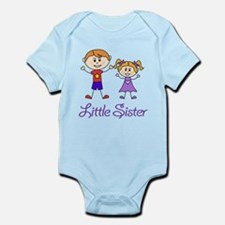 Little Sister with Big Brother Infant Bodysuit