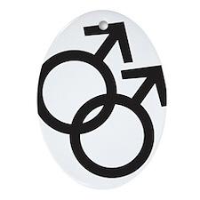 Gay Symbol - Male Ornament (Oval)