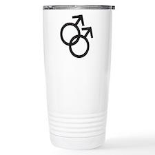Gay Symbol - Male Travel Mug