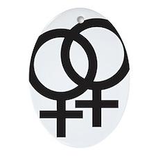 Gay Symbol - Female Ornament (Oval)