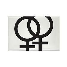 Gay Symbol - Female Rectangle Magnet (10 pack)