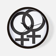 Gay Symbol - Female Wall Clock