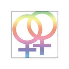 "Gay Symbol - Female Square Sticker 3"" x 3"""