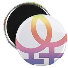 "Gay Symbol - Female 2.25"" Magnet (100 pack)"