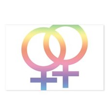 Gay Symbol - Female Postcards (Package of 8)