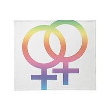 Gay Symbol - Female Throw Blanket