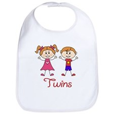 Fraternal Twins Brother and Sister Bib