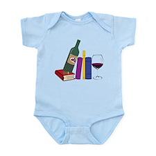 Books And Wine Infant Bodysuit