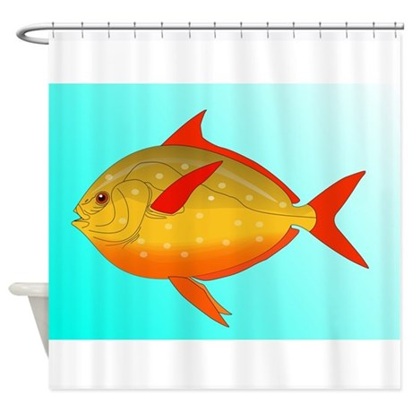 Tropical fish shower curtain by kevsanimals for Tropical fish shower curtain