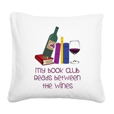 My Book Club Square Canvas Pillow