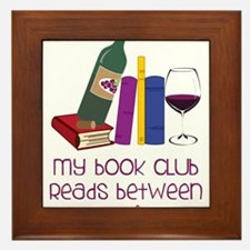My Book Club Framed Tile