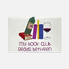 My Book Club Rectangle Magnet