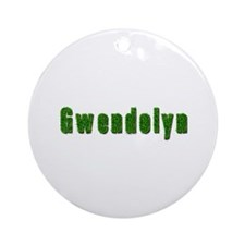 Gwendolyn Grass Round Ornament