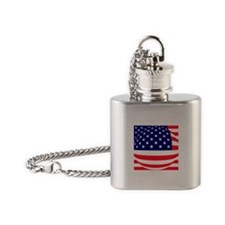 American Flag Flask Necklace