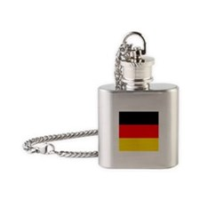 German Flag Flask Necklace