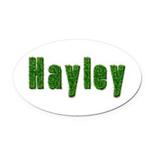 Hayley Grass Oval Car Magnet