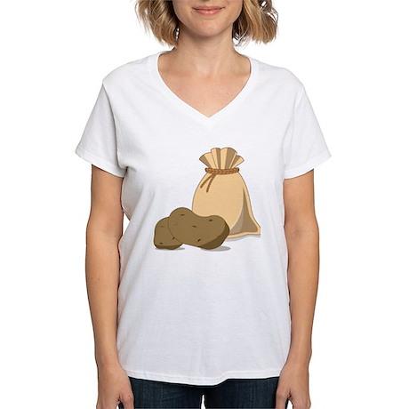 Potato Bag Women's V-Neck T-Shirt