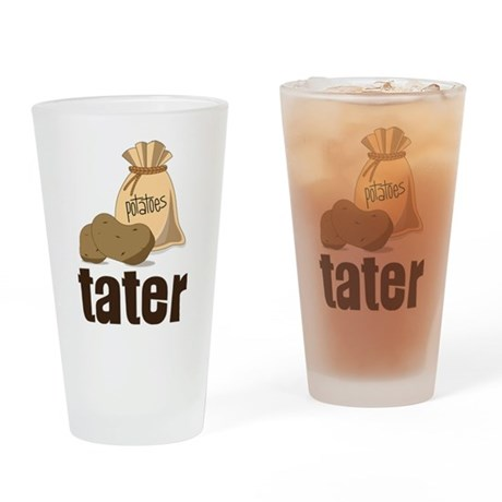 Tater Drinking Glass