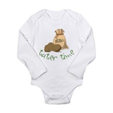 Tater Time Long Sleeve Infant Bodysuit