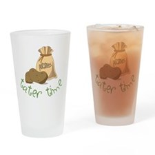 Tater Time Drinking Glass