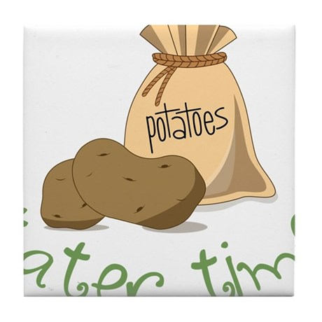 Tater Time Tile Coaster