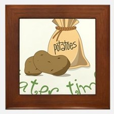 Tater Time Framed Tile