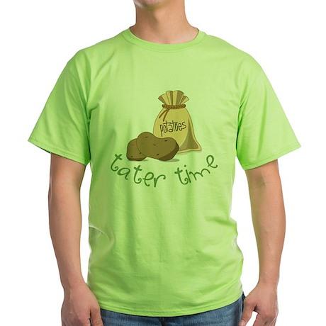 Tater Time Green T-Shirt