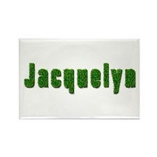 Jacquelyn Grass Rectangle Magnet