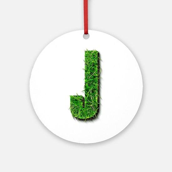 J Grass Round Ornament