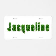 Jacqueline Grass Aluminum License Plate