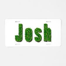 Josh Grass Aluminum License Plate