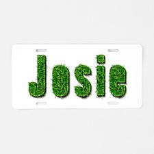 Josie Grass Aluminum License Plate