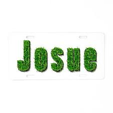Josue Grass Aluminum License Plate