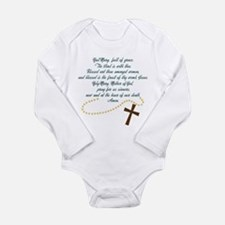 Hail Mary Long Sleeve Infant Bodysuit