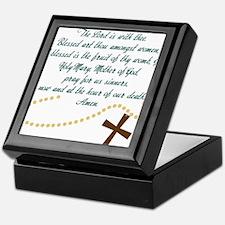 Hail Mary Keepsake Box