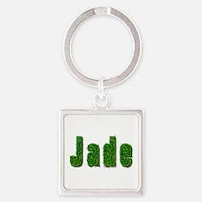 Jade Grass Square Keychain