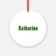 Katharine Grass Round Ornament
