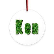 Ken Grass Round Ornament