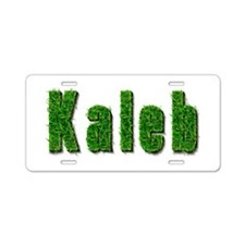 Kaleb Grass Aluminum License Plate