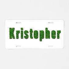 Kristopher Grass Aluminum License Plate