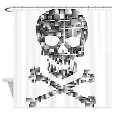 Defragmented skull Shower Curtain