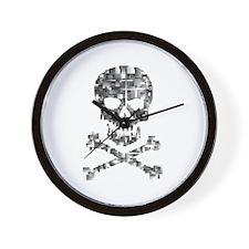 Defragmented skull Wall Clock