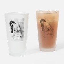 Sultry Woman In Corset Drinking Glass