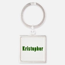 Kristopher Grass Square Keychain
