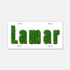 Lamar Grass Aluminum License Plate