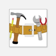 "Handyman Tools Square Sticker 3"" x 3"""