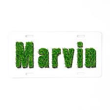 Marvin Grass Aluminum License Plate